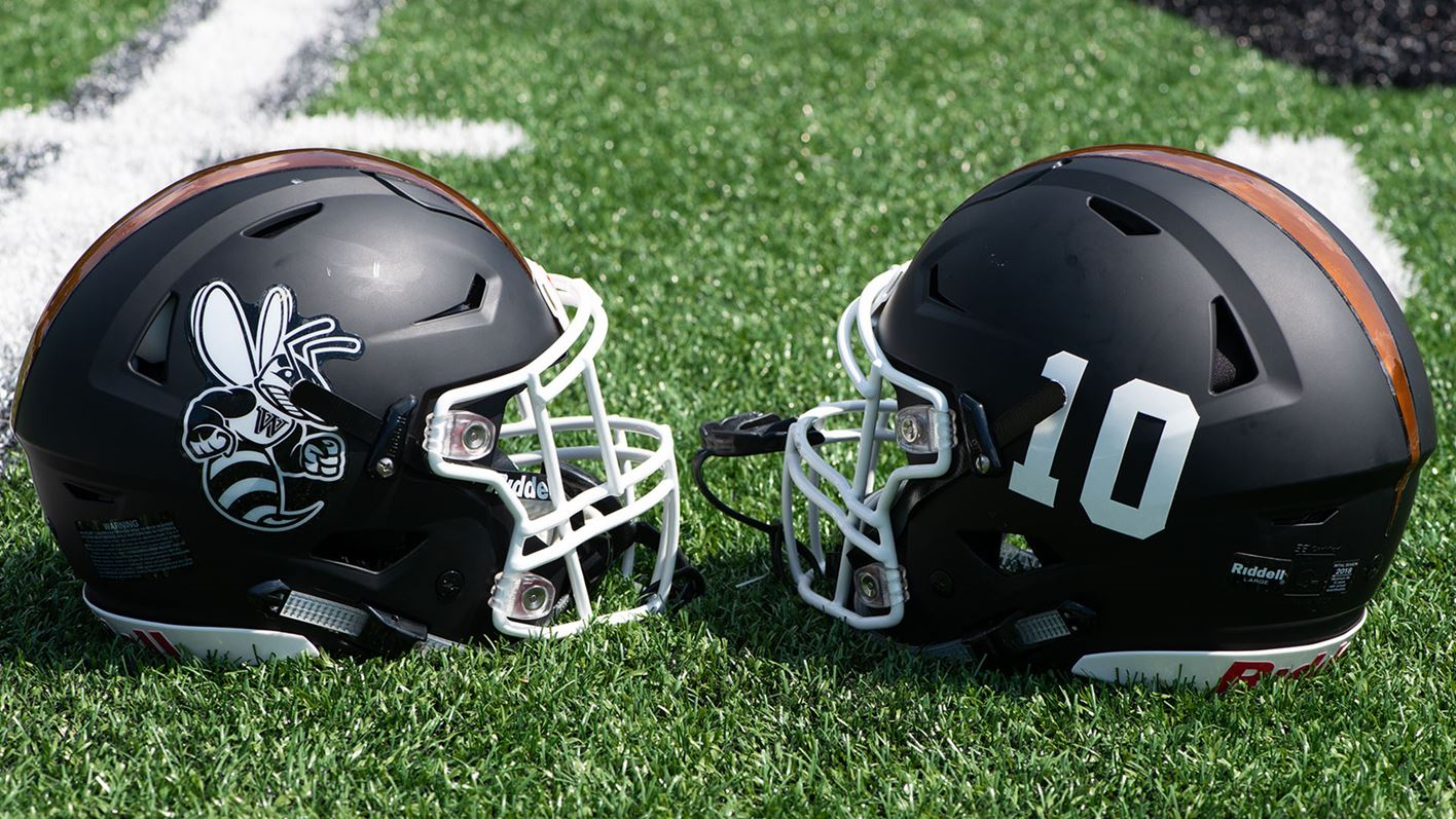 116a0c2ff44 Safety and style meet in football helmets - Waynesburg University ...